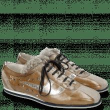 Sneakers Pearl 1 Suede Pattini Marmotta Milano Morning Grey Grigio Cromia