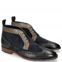 Enkellaarzen Victor 7 Rio London Fog Stone Suede Mr Touch Navy