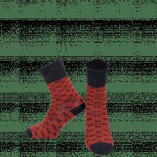 Sokken Charlie 1 Crew Socks Red Navy