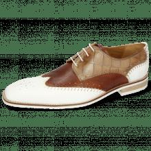 Derby schoenen Clark 1 Rubber White Tan Turtle