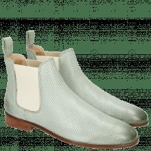Enkellaarzen Susan 10 Salerno Perfo Sweet Green Elastic Off White