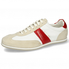 Sneakers Pharell 12 Suede Ivory Nappa White Turtle Red