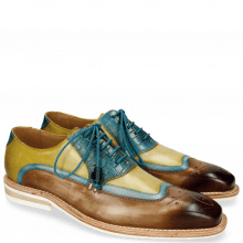Derby schoenen Marvin 12 Mid Brown Bluette Sol