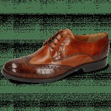 Derby schoenen Amelie 3 Vegas Crock Wood Tan