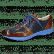 Sneakers Blair 11 Pisa Wood Prick Perfo Navy Tobacco Mid Brown