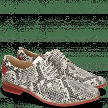 Derby schoenen Ivy 4 Snake Nappa Ivory