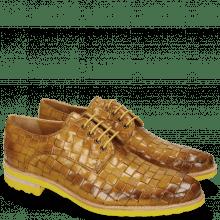 Derby schoenen Brad 7 Woven Yellow Lining