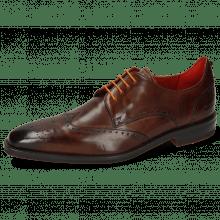 Derby schoenen Dave 2 Mid Brown Laces Orange