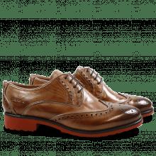 Derby schoenen Amelie 48 Cappu Gold Finish Binding Bronze
