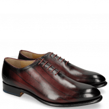 Oxford schoenen Lionel 2 Burgundy Lines London Fog