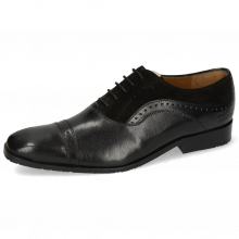 Oxford schoenen Rico 42 Rio Black Suede Pattini Black Patch