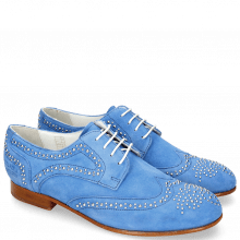 Derby schoenen Sally 53 Parma Suede Green Blue