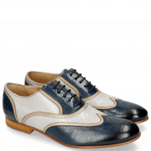 Oxford schoenen Sally 38 Salerno Navy Light Grey Binding Cappu