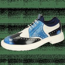 Derby schoenen Ron 2 Brush Off Multi Blue Perfo White Turtle Mid Blue