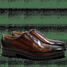 Oxford schoenen Nicolas 1 Crust Tan Shade & Lines Dark Brown HRS