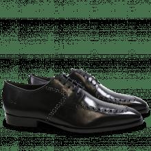 Derby schoenen Woody 8 Black Rivets Gunmetal