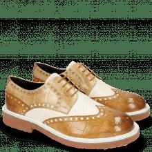 Derby schoenen Blake 1 Vegas Turtle Tan Perfo White Sand