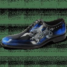 Oxford schoenen Clark 6 Brush Off White Navy Lasercut Dragon Rivets