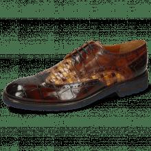 Derby schoenen Eddy 5 Turtle Mid Brown Woven Multi
