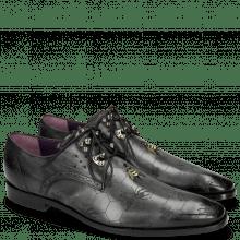 Derby schoenen Elvis 42 Black Embroidery Bee