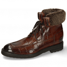 Enkellaarzen Trevor 31 Turtle Brown Sherling Cognac