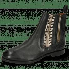Enkellaarzen Lexi 2 Pisa Black Croco Hairon Stripes