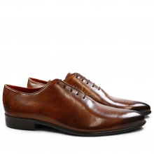 Oxford schoenen Toni 26 Crust Wood Flower Points LS Brown