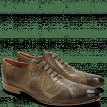 Oxford schoenen Toni 20 Crock Perfo Big Croco Stone Oxygen