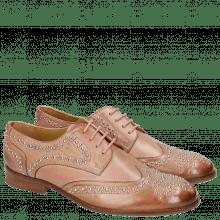 Derby schoenen Sally 53  Berlin Rivets Soft Natural