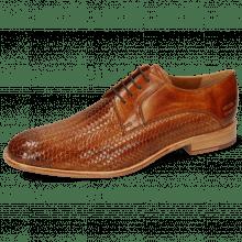 Derby schoenen Eddy 8 Woven Haring Bone Tan