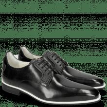 Derby schoenen Dave 5 Black Lining Nappa White