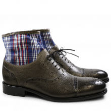 Enkellaarzen Patrick 4 Scotch Grain Textile Grey Check HRS