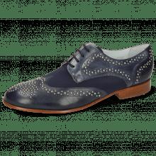 Derby schoenen Sally 53 Venice Navy Lycra Navy