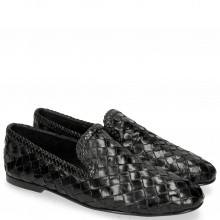 Loafers Mandy 1 Interlaced Scale Black