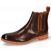 Enkellaarzen Eddy 25 Classic Mid Brown Winter Orange