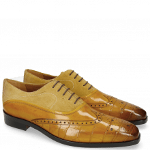 Oxford schoenen Lewis 4 Big Croco Ocra
