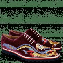 Oxford schoenen Clark 25 Velluto Dark Purple Dragon