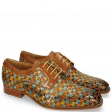 Derby schoenen Woody 10 Woven Multi Tan