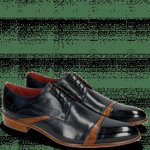 Derby schoenen Toni 39 Navy Crock Tan