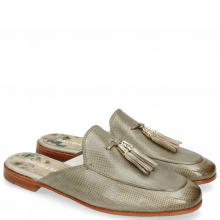 Muiltjes Scarlett 2 Vegas Dice Light Grey Tassel