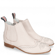 Enkellaarzen Sandy 4 Nappa Glove Salt Perfo Pink