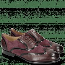 Oxford schoenen Sally 38 Deep Pink Patent Oriental Suede Chilena