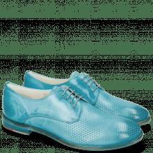 Derby schoenen Jenny 8 Perfo Ice Blue