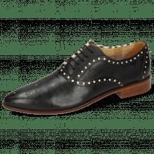Oxford schoenen Jessy 61 Nappa Black Hairon Zebra Flex