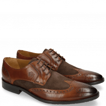 Derby schoenen Victor 2 Rio Mid Brown Suede Chocolate Tex Blue