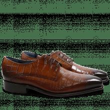 Derby schoenen Stanley 2 Croco Tan LS