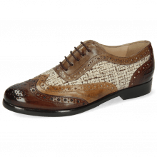 Oxford schoenen Selina 56  Imola Mink Tortora Chestnut Textile