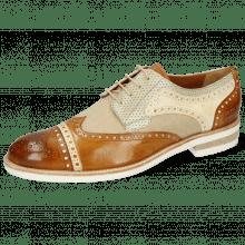 Derby schoenen Henry 7 Imola Camel Nude Beige Perfo New Sand