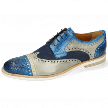 Derby schoenen Henry 7 Vegas Baby Croco Mid Blue Nude Digital