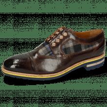 Derby schoenen Tom 22 Mid Brown Textile Crayon Eyelet Gold